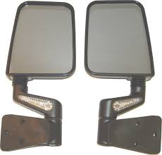 jeep wrangler mirrors rugged ridge 11015 20 led heated mirrors in black for 87 02 jeep