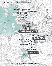 Utah Road Map by Ski Resorts In Utah Utah Ski Resorts Map Visit Utah