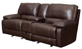 Power Reclining Loveseat Brown Leather Power Reclining Loveseat Steal A Sofa Furniture