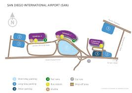 San Diego Airport Terminal Map by San Diego San Diego International Airport San Usa San Diego
