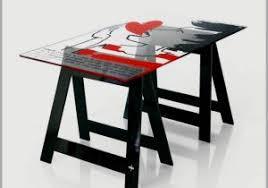 plateau verre bureau plateau verre pour bureau 909679 bureau verre et métal avec plateau