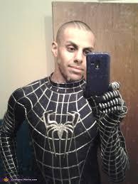 black spiderman halloween costume