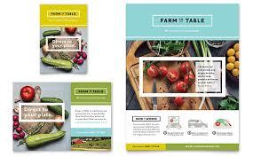 organic food flyer u0026 ad template design