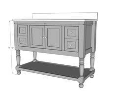 Free And Easy Diy Furniture Plans by Ana White Build A Simple Gray Bath Vanity Free And Easy Diy