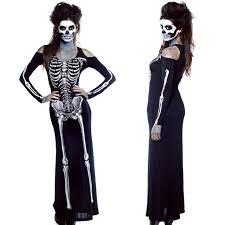 Skeleton Dress Aliexpress Com Buy Halloween Skull Cosplay Clothes Skeleton