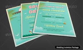 Wedding Invitation Bundles Beach Wedding Invitation Template U2013 18 Psd Eps Indesign Formats