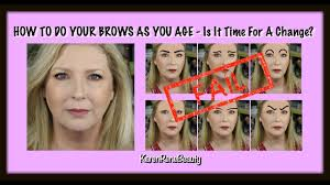 how to do your eyebrows as you age is it time for a change