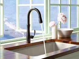 kohler rubbed bronze kitchen faucet kohler k 560 2bz bellera pull kitchen faucet rubbed