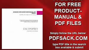 advanced open water diver manual pdf espaol video dailymotion