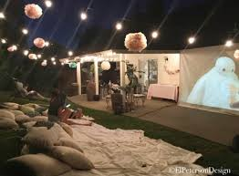 Backyard Movie Night Rental Outdoor Movie Night Backyard Summer Movie Party Ideas