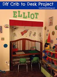 Convert Crib Convert A Crib Into A Desk Crib Desks And Diy Crib
