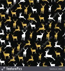 camo christmas wrapping paper merry christmas gold reindeer seamless pattern