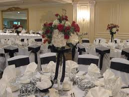 inexpensive wedding centerpieces decorating black and white wedding centerpieces ideas using a