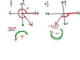 drawing angles in standard position trigonometry showme