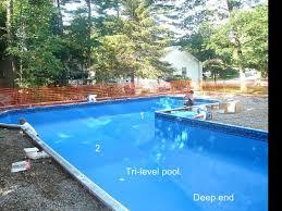 Deep Backyard Pool by Precision Pool In Ground Pool Presentation