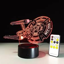 yeduo 3d battleship spacecraft led illusion mood lamp bedroom