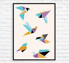 free printable bird wall art origami cranes printable wall art origami cranes printable wall