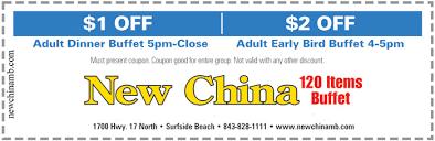 China Wall Buffet Coupon by New China