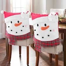 Snowman Chair Covers Plaid Elf Christmas Chair Covers Set Of 2 Kirklands