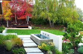 outdoor water features with lights contemporary water features contemporary roof garden with lighting