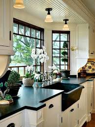Black Countertop Kitchen by Best 25 Black White Kitchens Ideas On Pinterest Grey Kitchen