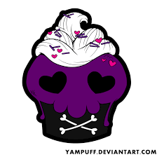 halloween skull cupcake by yampuff deviantart com on deviantart