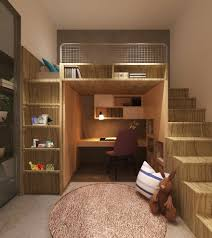 Kids Bedroom Solutions Small Spaces Pretty Bunk Bed With Desk Underneath In Kids Contemporary With Bed