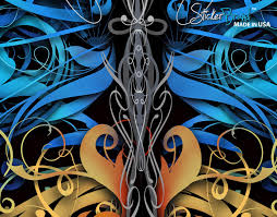 large swirl butterfly wall graphic mural 6024