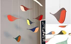 mobile chambre bébé mobile oiseaux en bois décoration chambre bébé et enfant cadeau