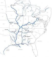 Map Eastern Usa by Eastern Us Waterways Map U2013 Coosa Alabama River Improvement Assn