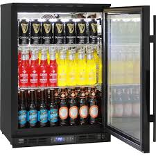 quiet glass door bar fridge with lg compressor