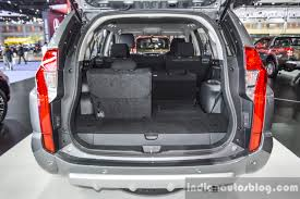 mitsubishi pajero 2016 2016 mitsubishi pajero sport boot at 2016 bimc indian autos blog