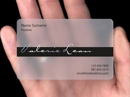 Card For Business Cards Transparent Plastic Business Visiting Card Photoshop Pinterest