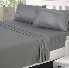 sheets comparison amazon com utopia bedding microfiber striped bed sheet set with