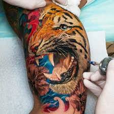 amazing asian tiger tattoo design photos pictures and sketches