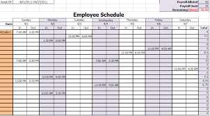 Employee Schedule Template Excel Work Employee Work Schedule Template