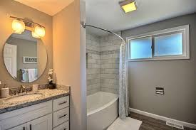 Contemporary Full Bathroom With Flat Panel Cabinets  Undermount - Bathroom cabinet lights 2