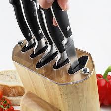 buy rockingham forge 6 piece self sharpening filled knife block
