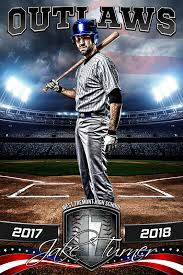 player banner sports photo template american baseball