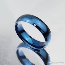 mens blue wedding bands simple design classic wedding rings blue black gold filled