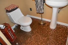 Bathroom Floor Pennies Copper Penny Bathroom Floor Wood Floors