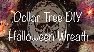 new dollar tree diy spooky halloween wreath quick and easy