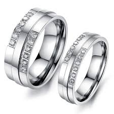 titanium wedding ring sets affordable titanium wedding bands for men and women personalized