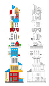 Different Architectural Styles by Bedroom Picturesque Tower Different Architectural Styles Royalty