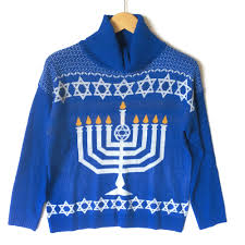 hanukkah sweater menorah turtleneck tacky hanukkah sweater the sweater shop