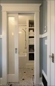 Shower Ideas For Master Bathroom Bathroom Sliding Bathroom Door 46 Fabulous Blue Frosted Glass