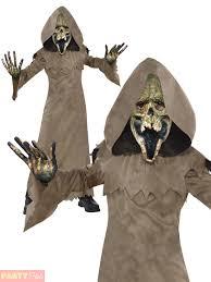 Kids Zombie Costume Boys Swamp Zombie Costume Kids Reaper Robe Teen Horror Halloween