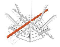 Free Large Octagon Picnic Table Plans by Picnic Table Plans Octagon Picnic Table Free And Easy Diy