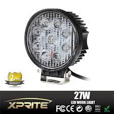 led work lights for trucks xprite 27 watt 4 inch round 9 bulb 2160 lumens led work l and off