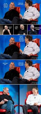 Bill Gates Steve Jobs Meme - steve jobs vs bill gates meme bill gates steve jobs and meme